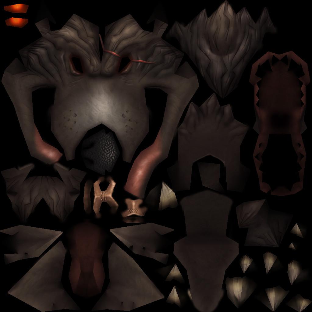 Wolfman Head Texture - 1024x1024