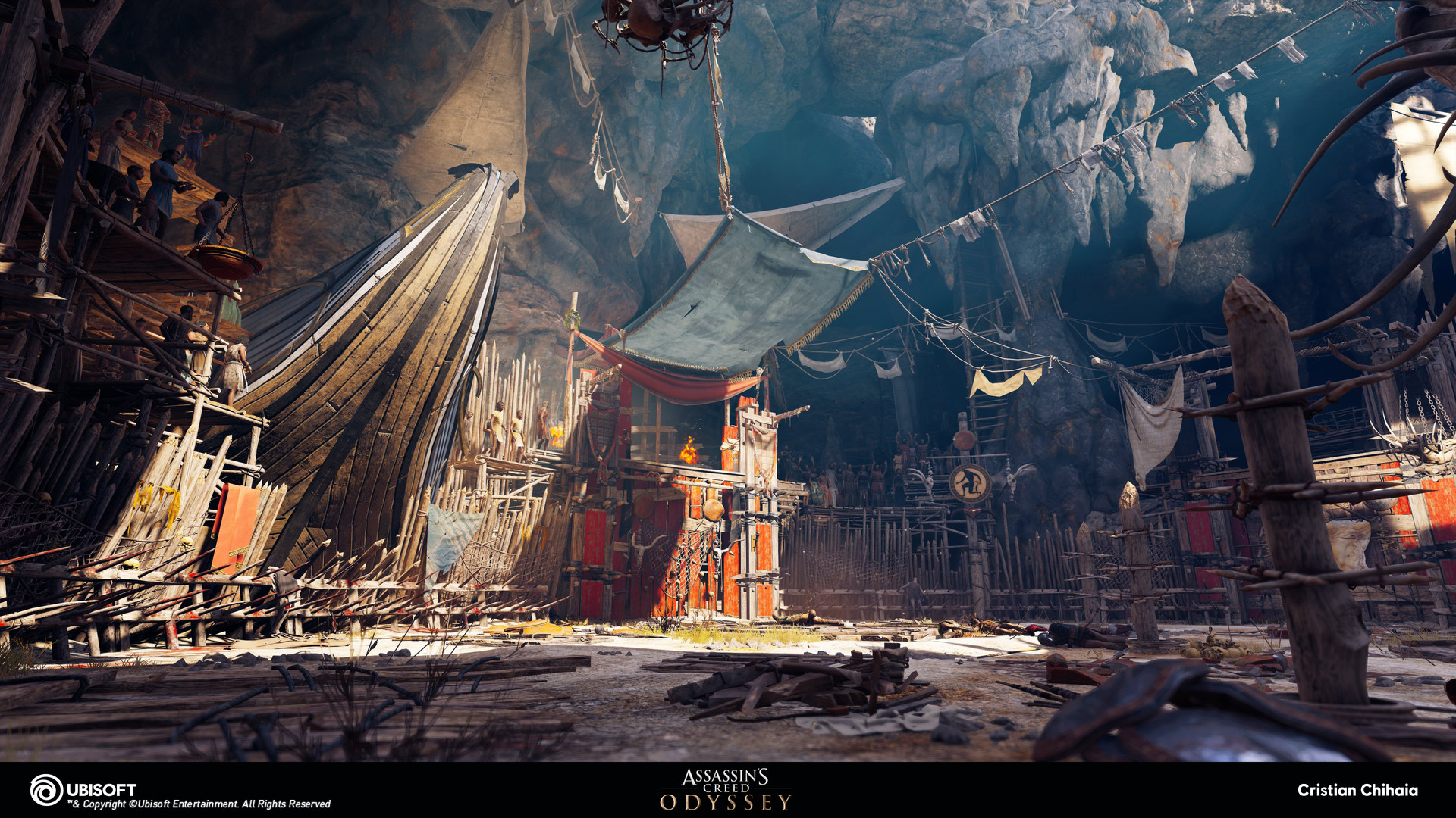 Artstation Assassin S Creed Odyssey The Arena Cristian Chihaia