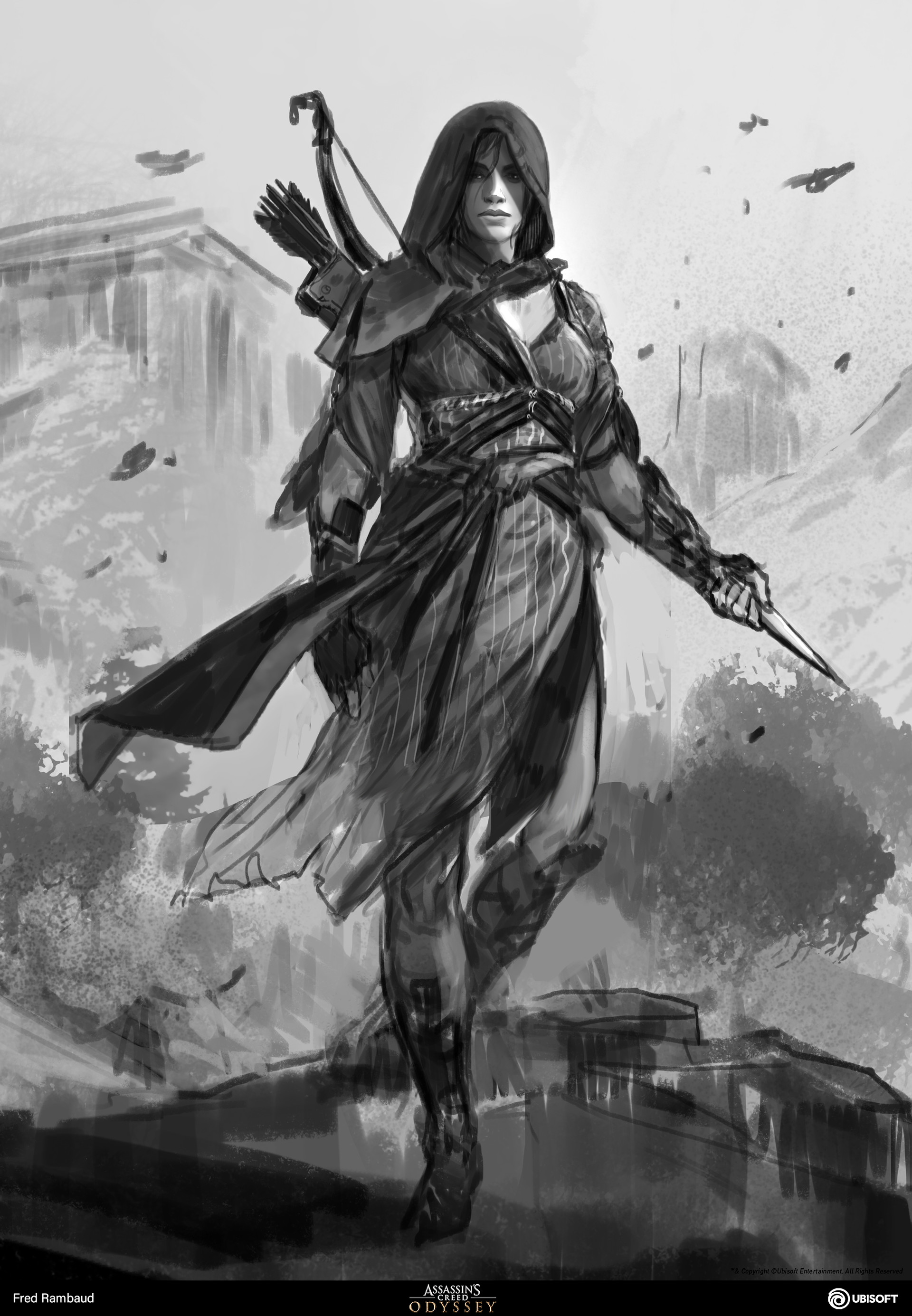 Artstation Kassandra Assassin S Creed Odyssey Illustrations Fred Rambaud