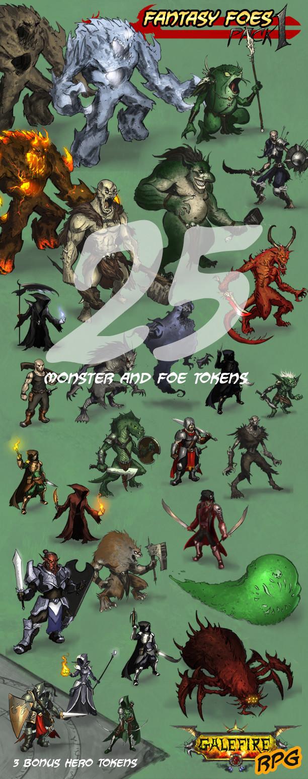 25 fantasy foes!