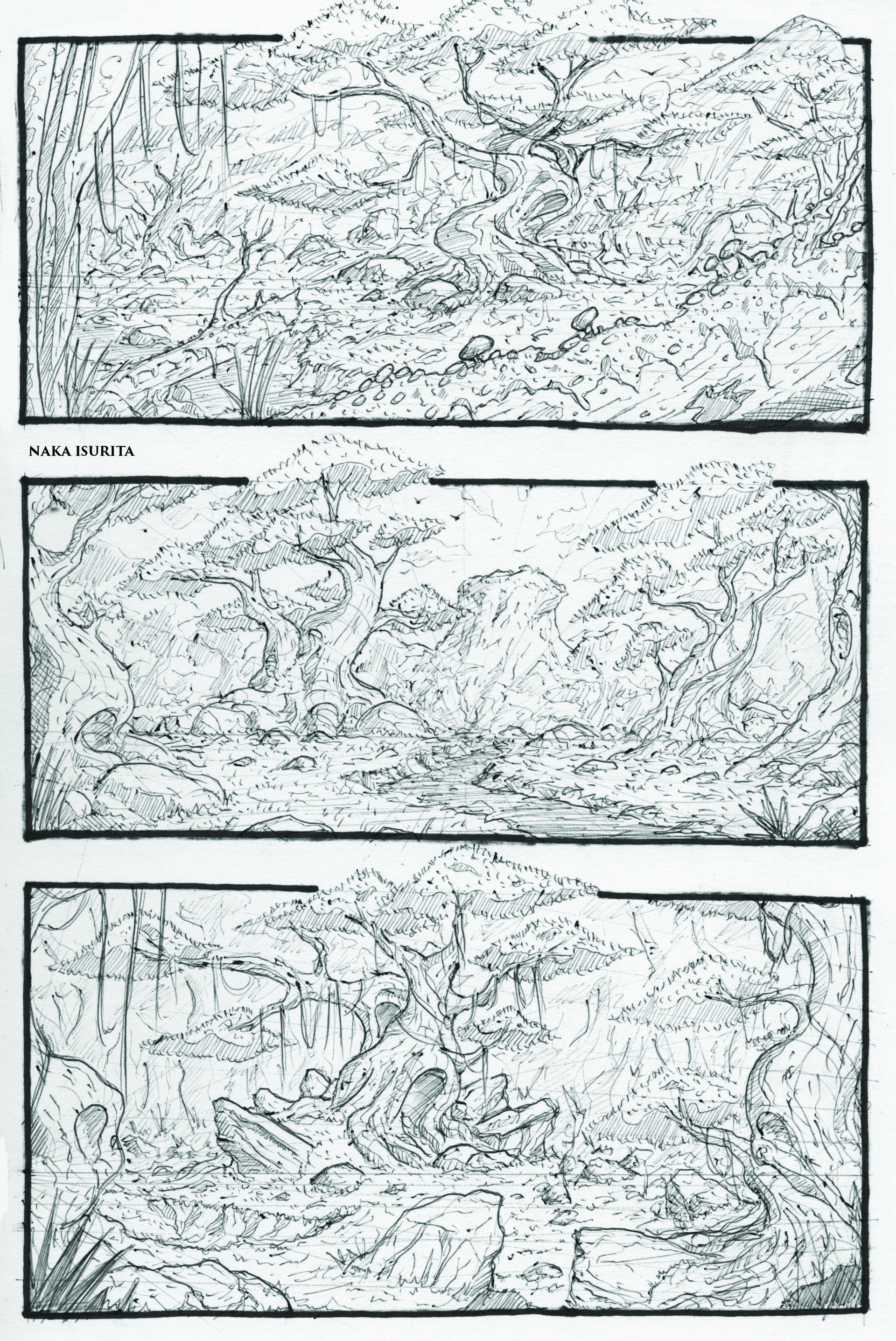 Naka isurita environment sketch 02