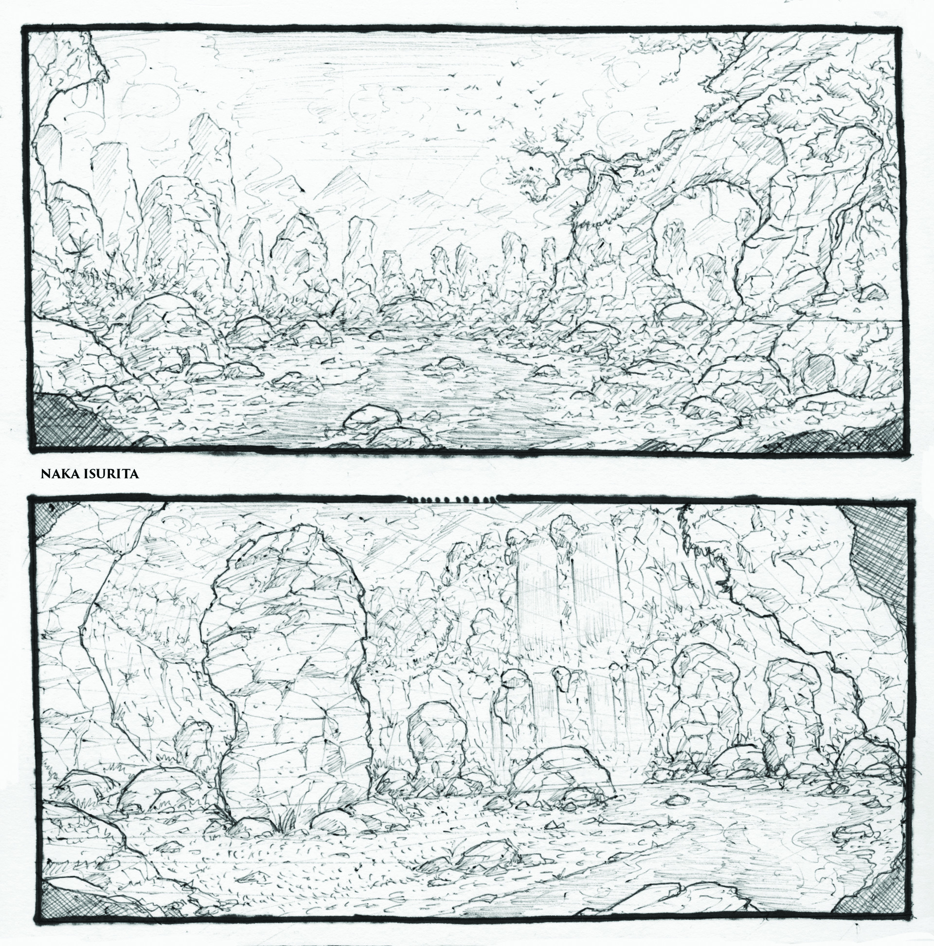 Naka isurita environment sketch 04