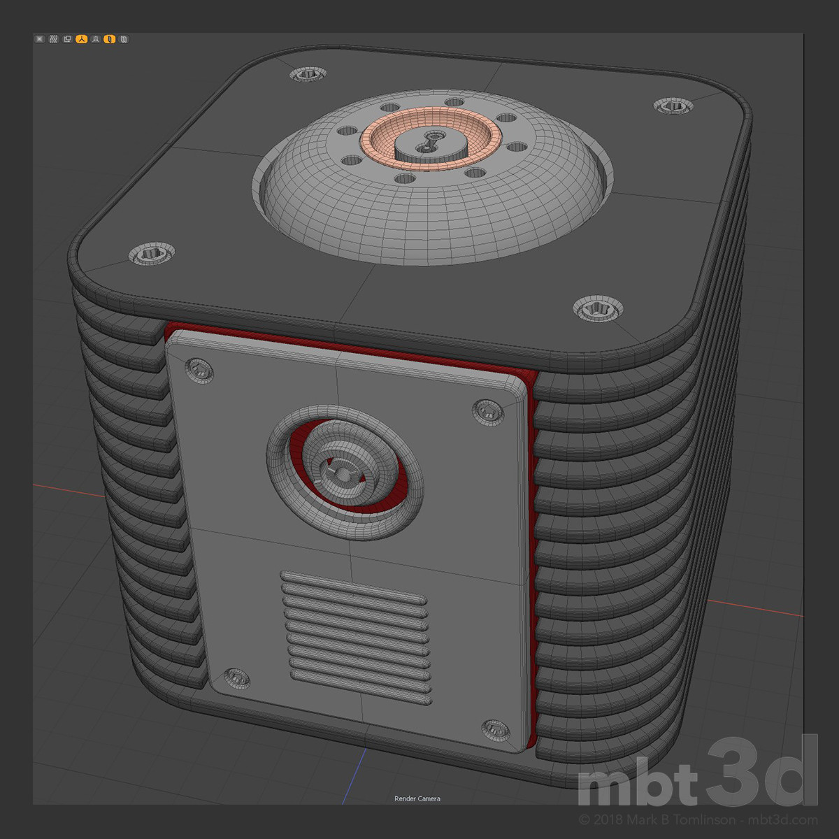 Box X: Wire. Hard surface Boolean MODO exercise