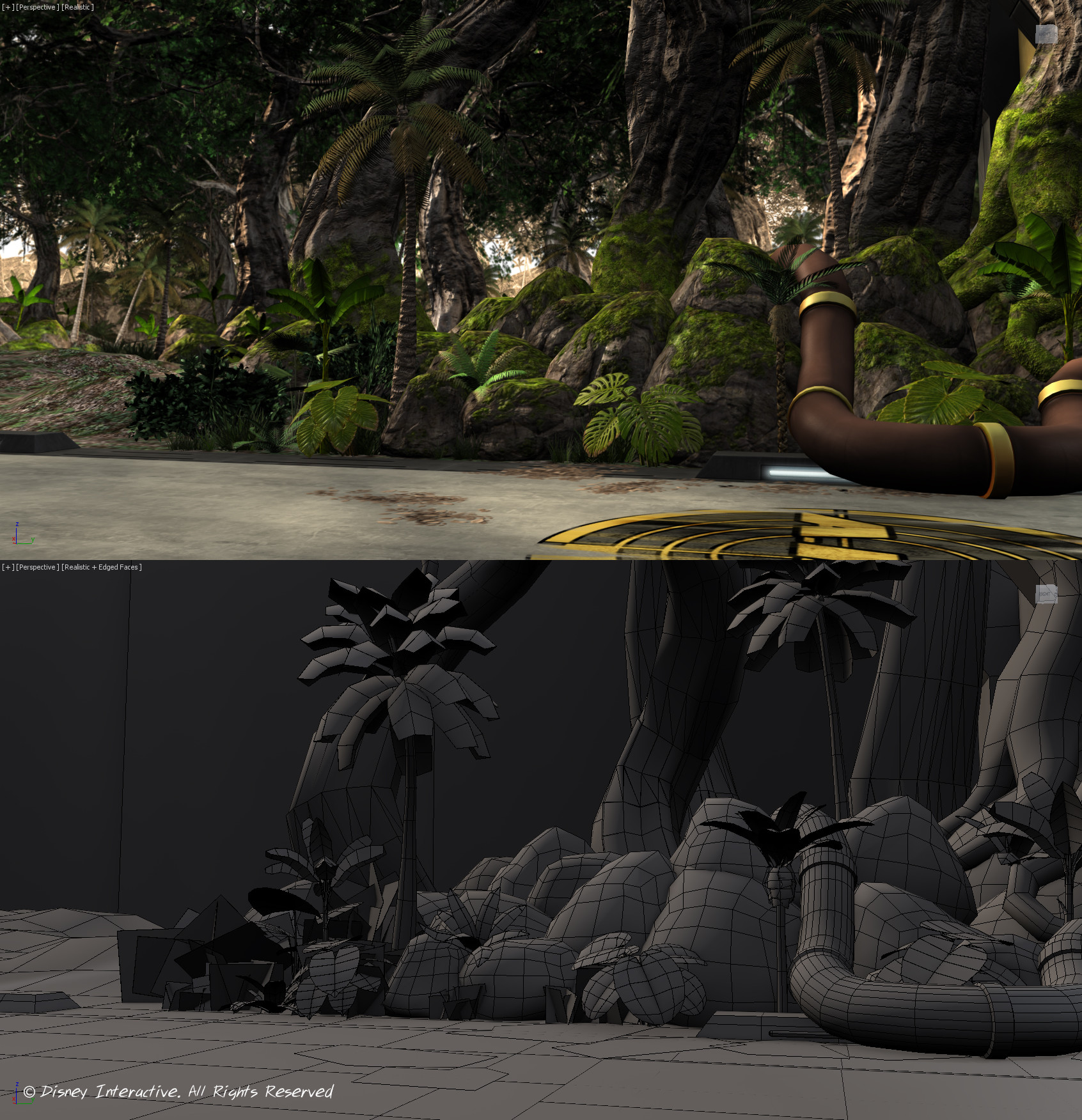 AIM Hangar Arena - 3DS Max Screenshot
