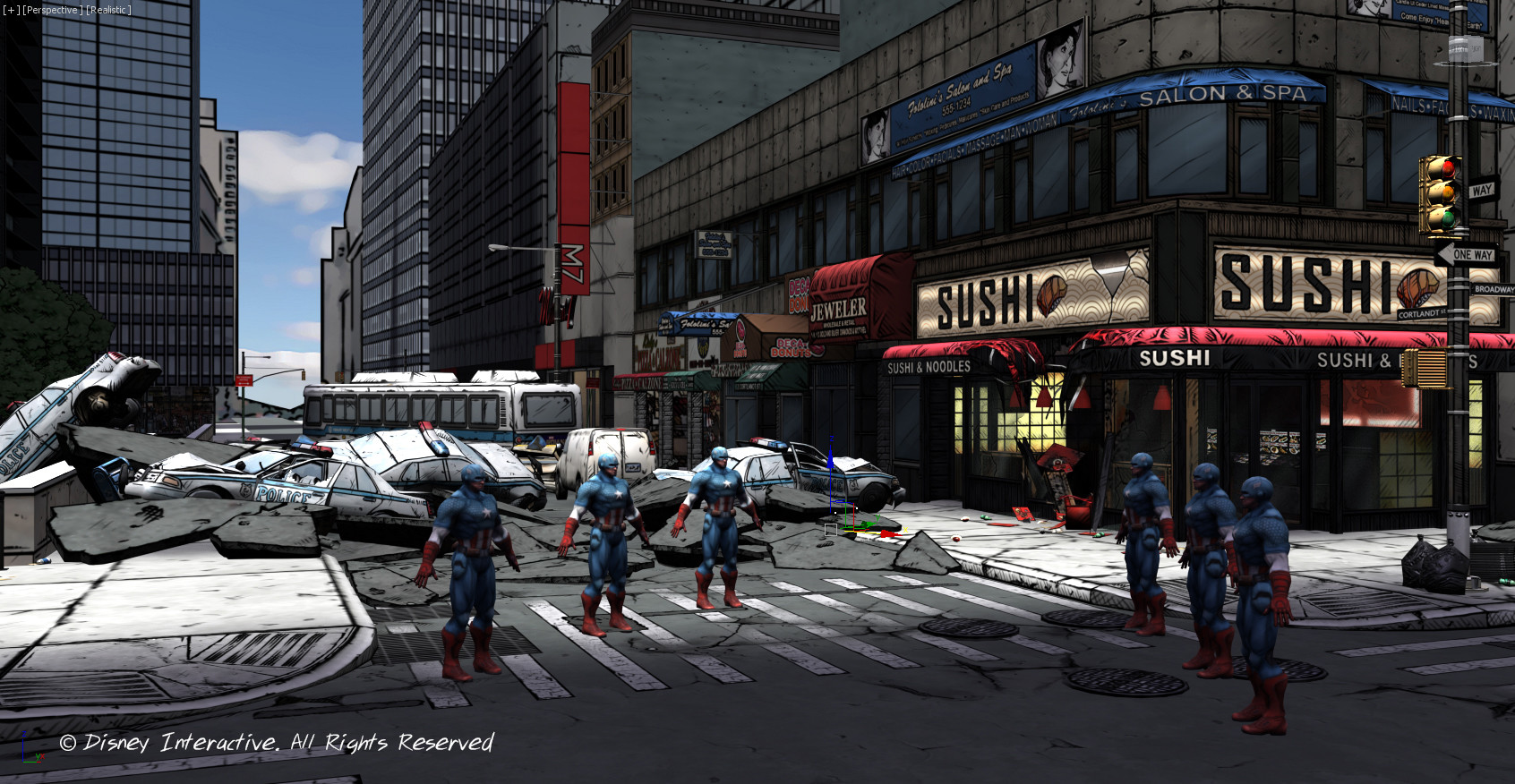 New York City Street - 3DS Max Screenshot