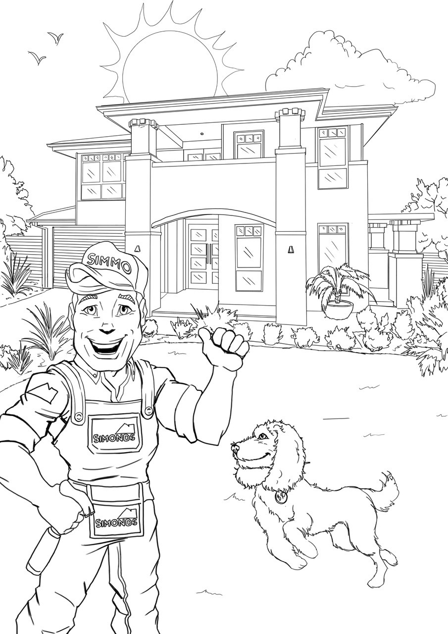 Grange wallis colouring in page 09