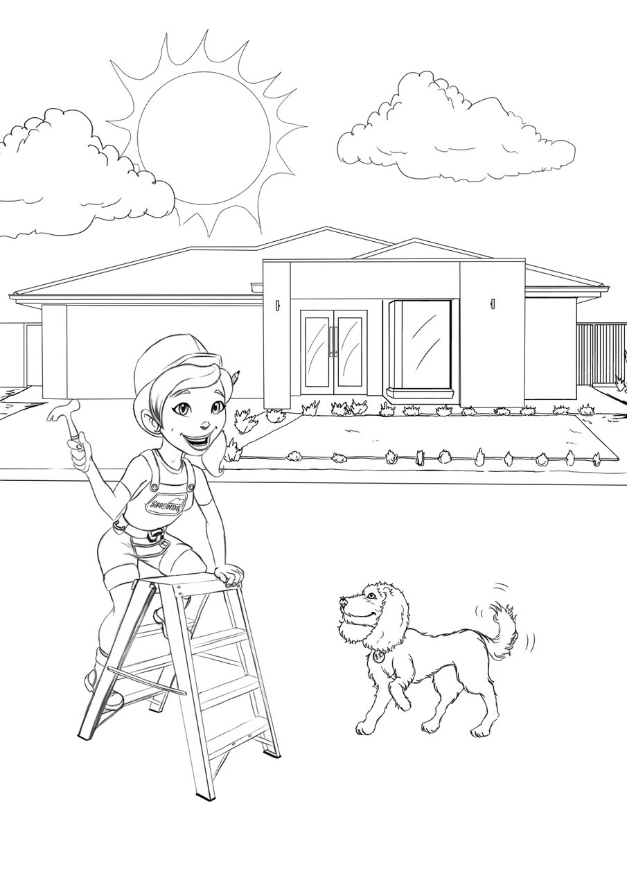 Grange wallis colouring in page 05