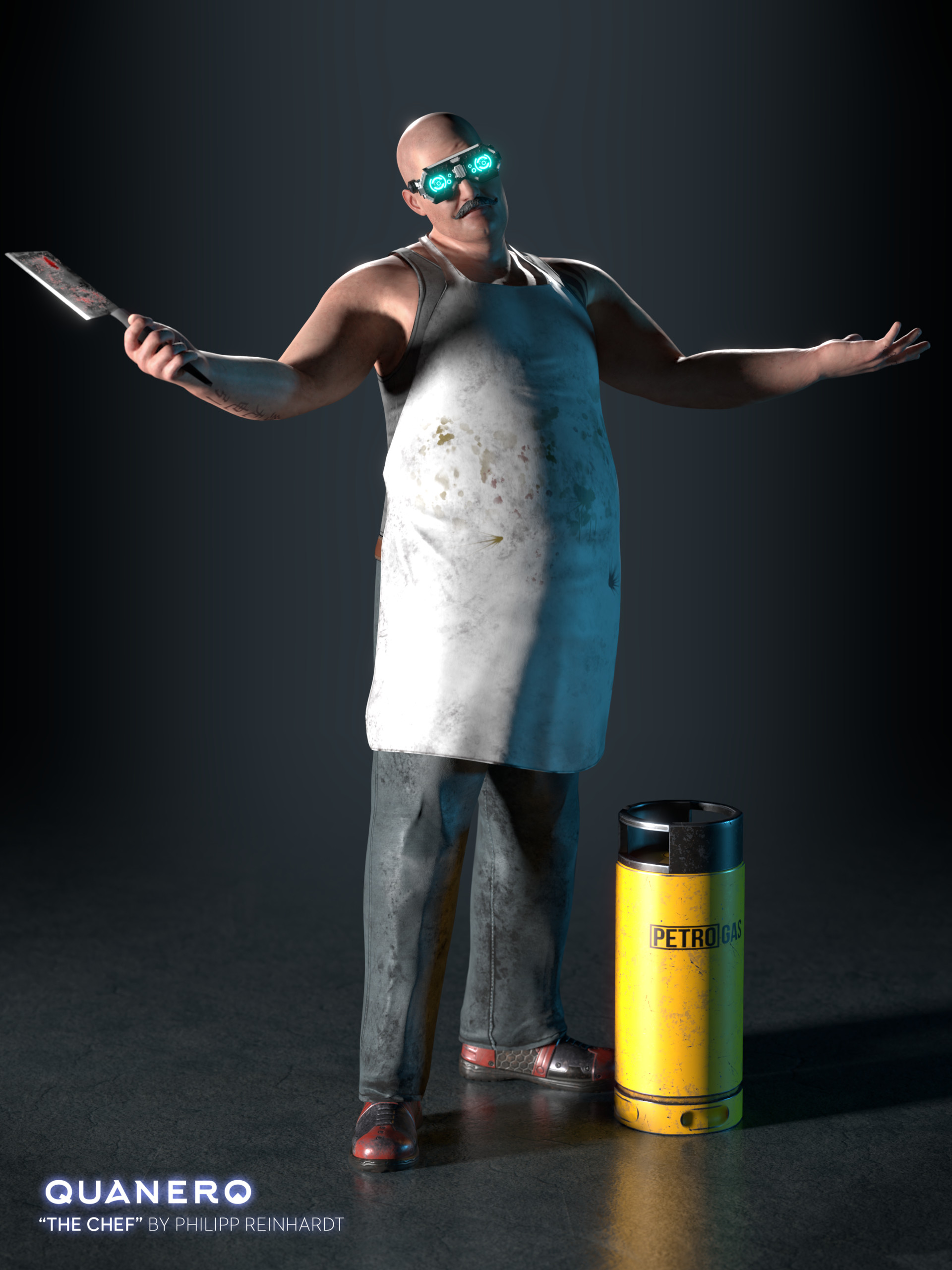 """""""The Chef"""" rendered in Cycles"""
