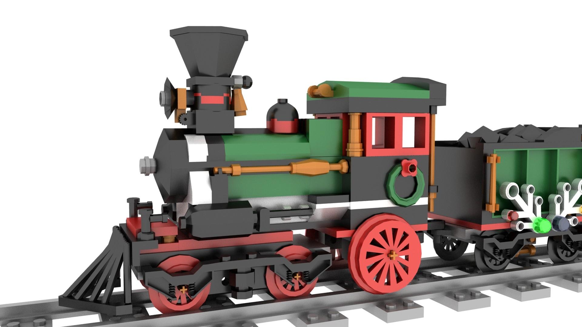 Lego Christmas Train.Artstation Lego Christmas Train Tavo Romero