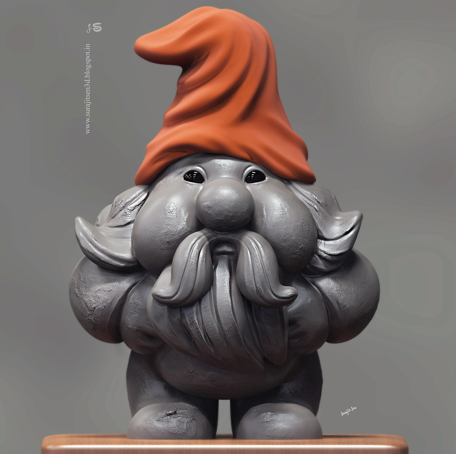 """Wish to share one of my speed sculpts. ....""""Mumor"""" - A Dwarf."""