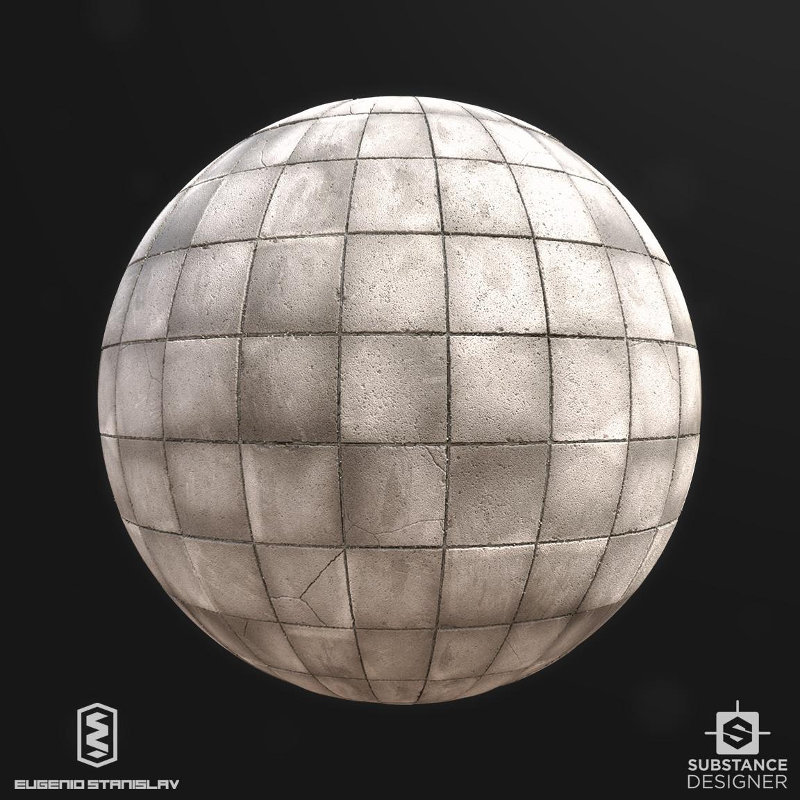 Eugenio stanislav concrete plain tile ball s