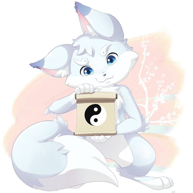 Fuyu the arctic fox mascot