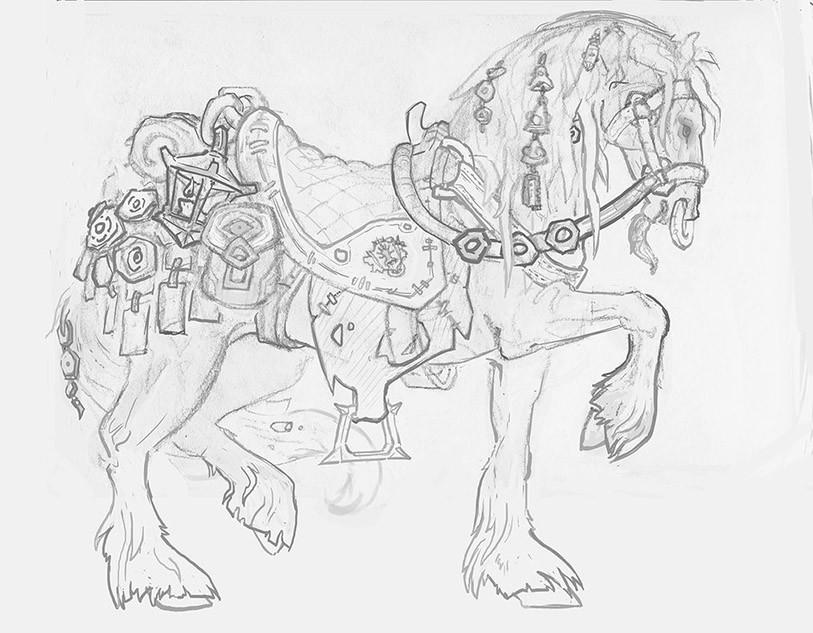 Lukas kuhn horse sketch