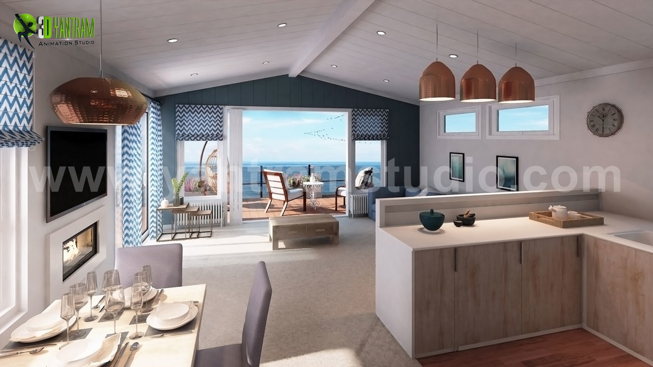 Interior Living And Kitchen Design Firms Ideas By Yantram Architectural Modeling Firm Boston