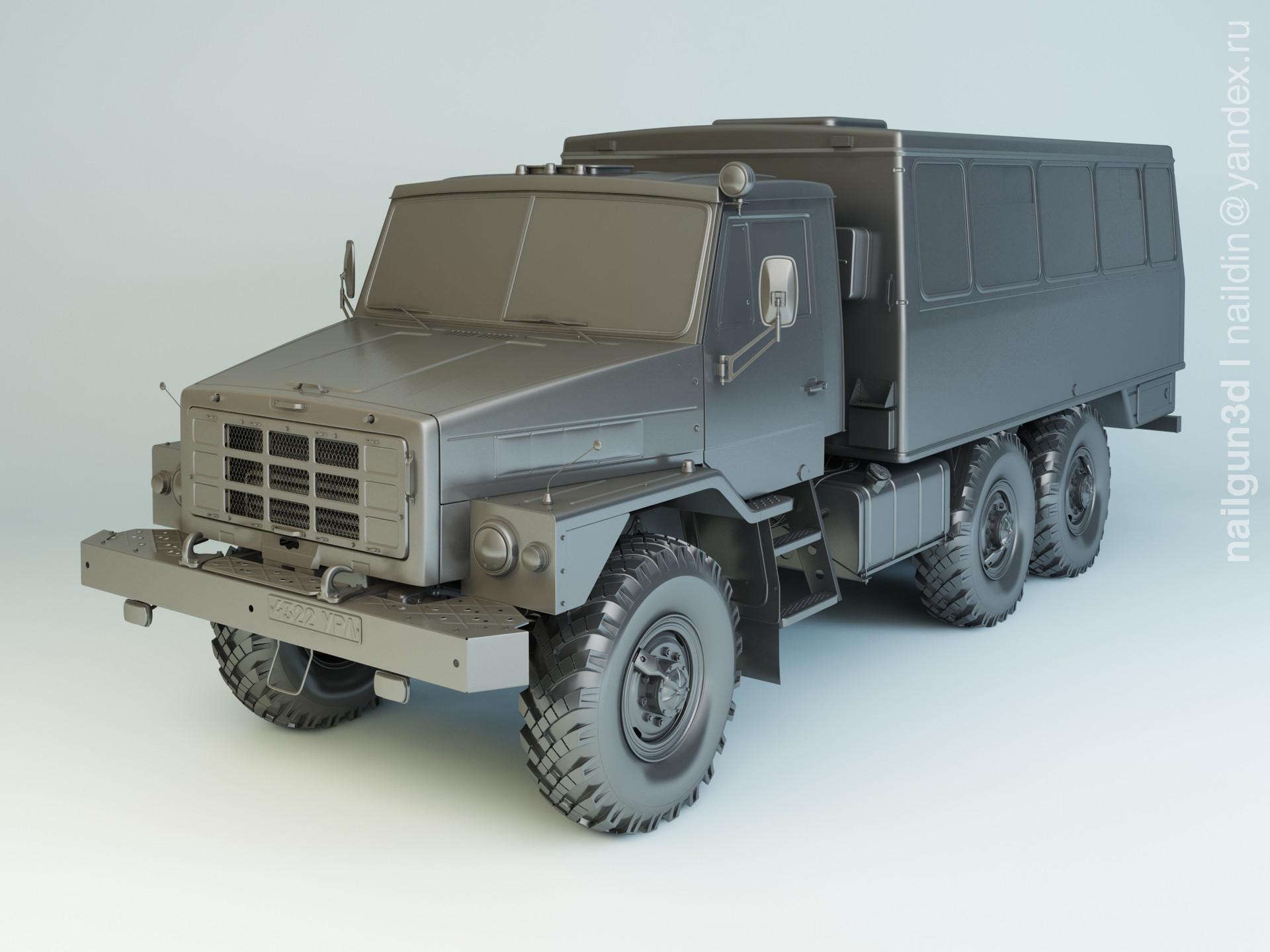 Nail khusnutdinov salg 002 002 ural 4322 modelling 0