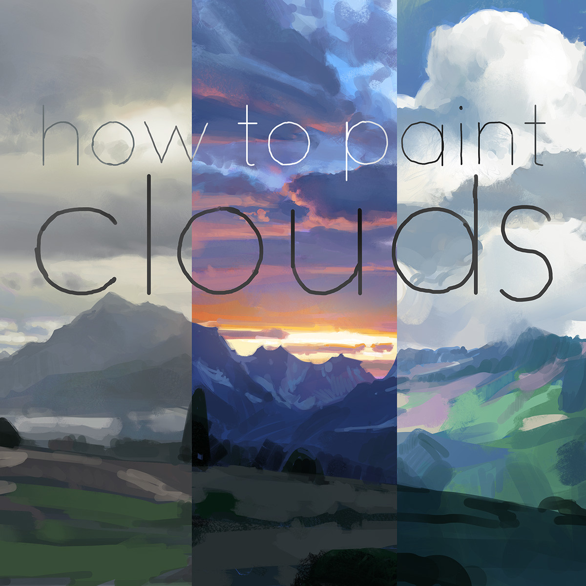 Gumroad tutorial, How to paint clouds!