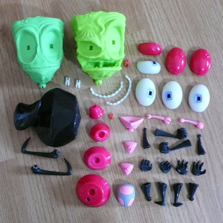 All the parts including his human disguise and various hands
