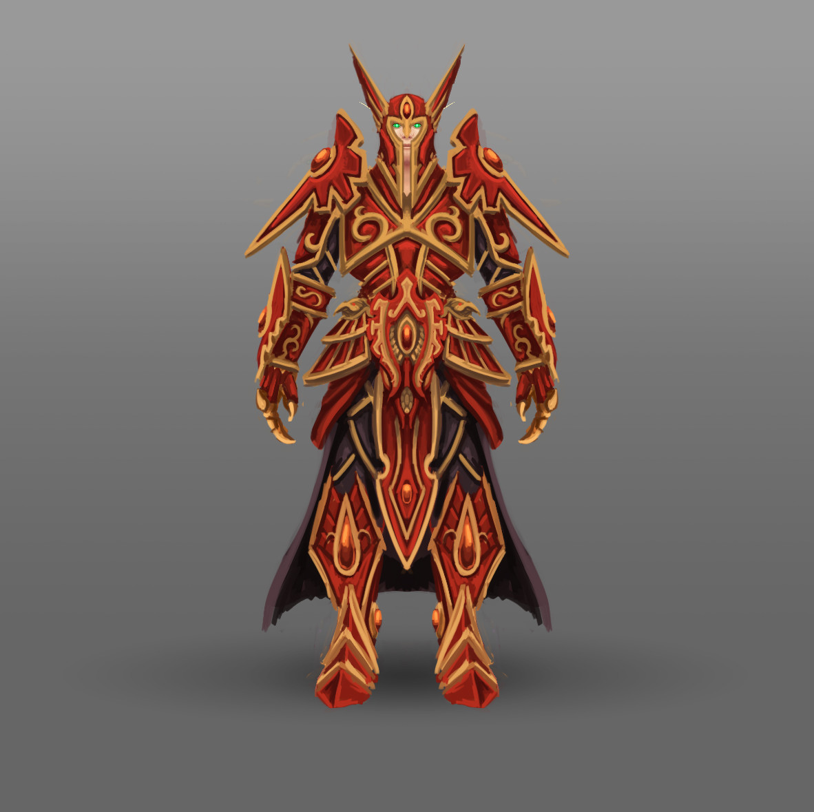 Arthur Lorenz Fan Art World Of Warcraft Racial Class Armor