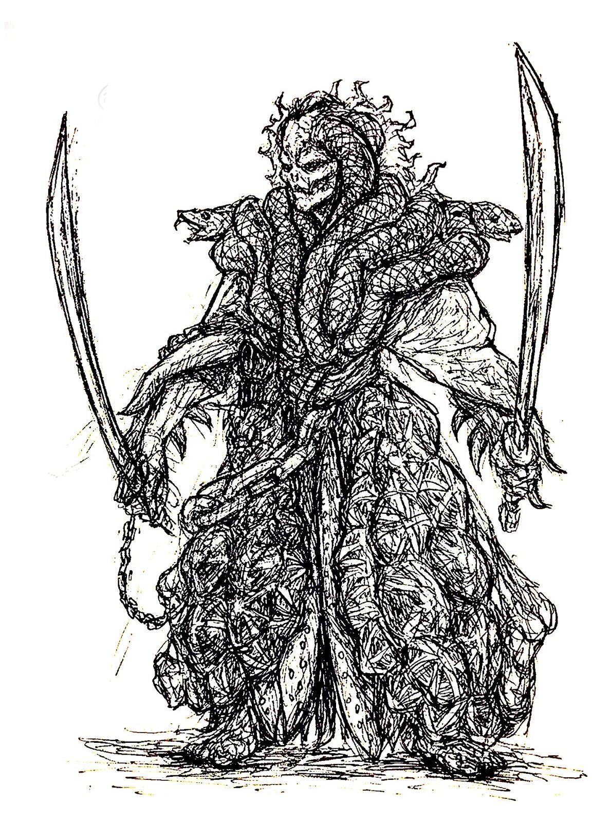 Daimyo Ink Sketch