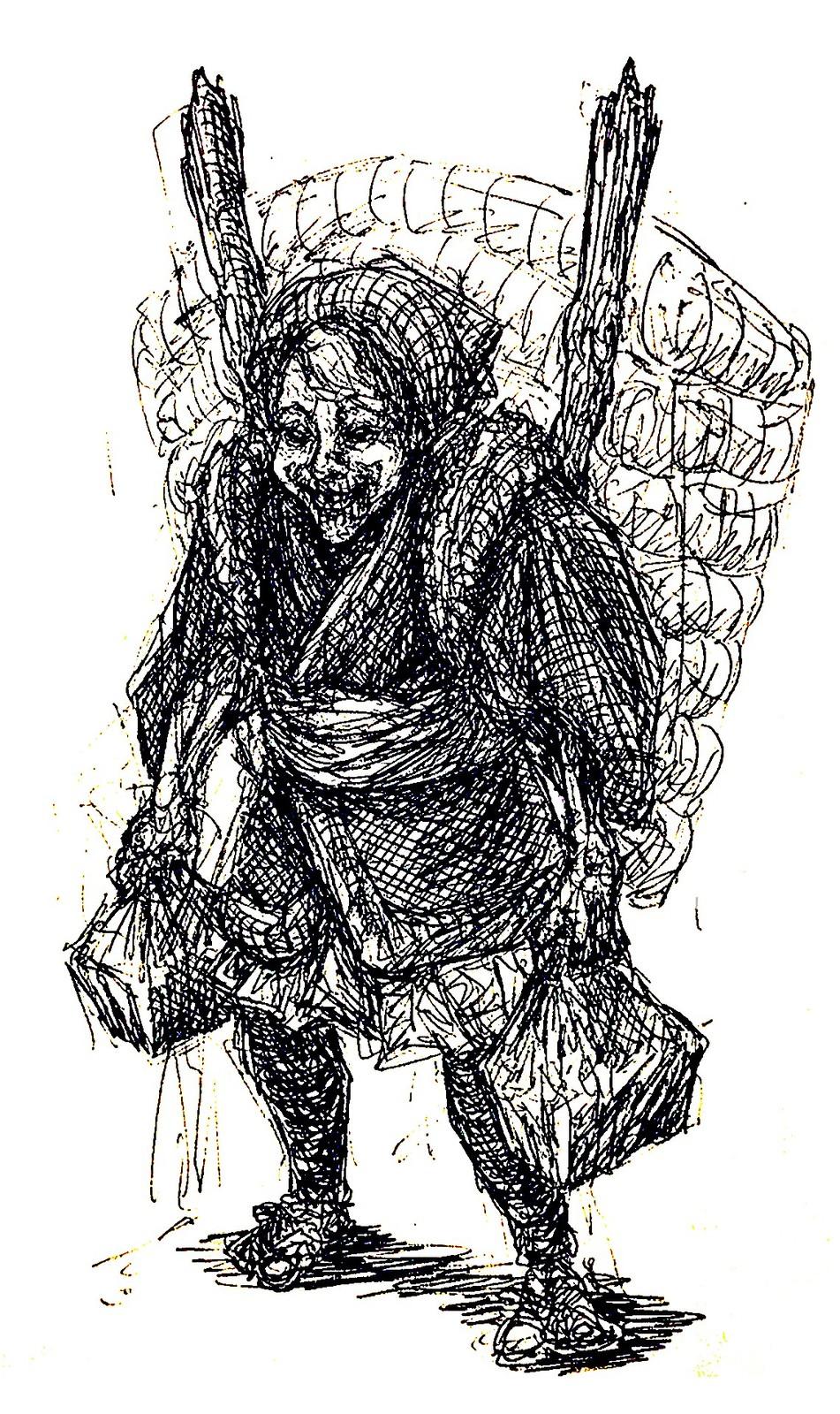Villager Ink Sketch