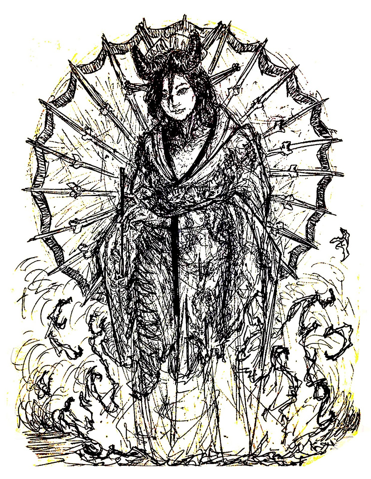 Oiran Ink Sketch