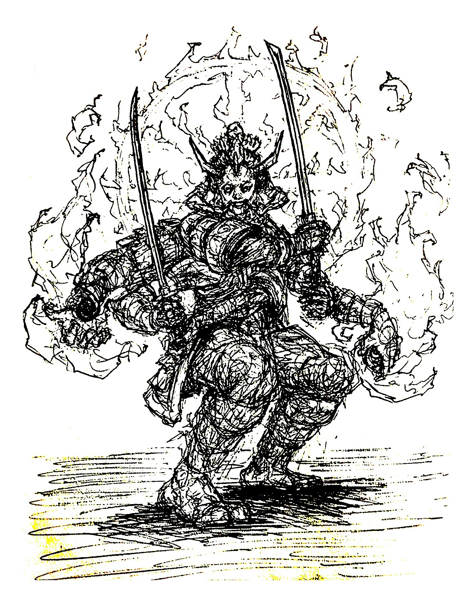 Samurai Ink Sketch