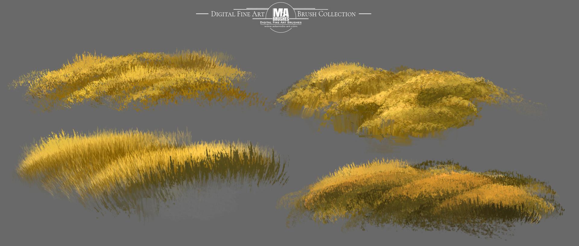 ArtStation - MA-Brushes Realistic Photoshop Brushes - Grass