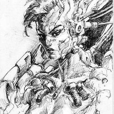Atom cyber ink sketch 1 006