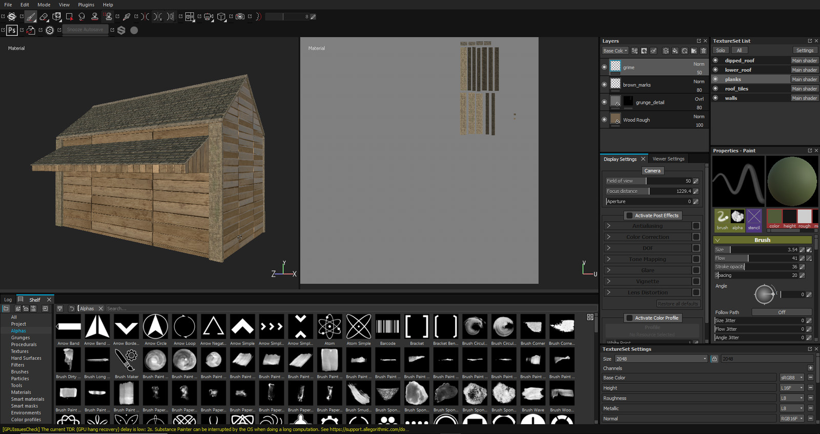 Texturing cabin in Substance Painter