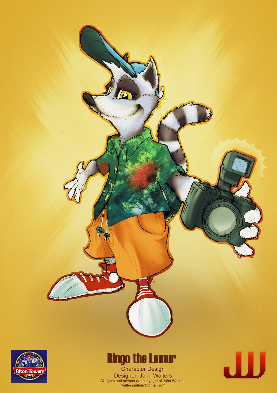 Ringo the Lemur - Character Design