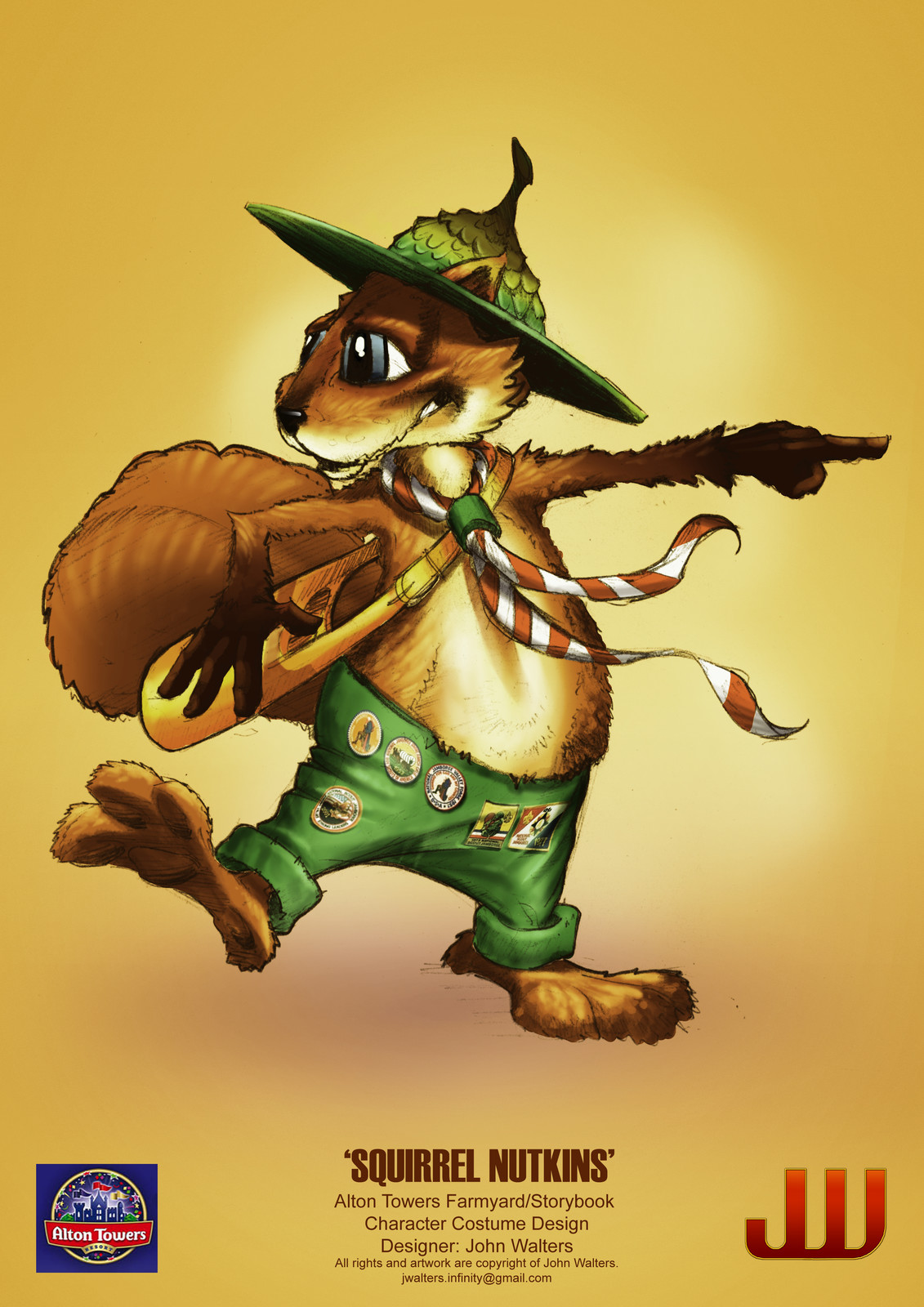 Squirrel Nutty - Character Design