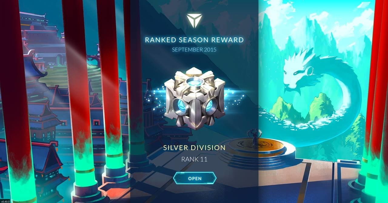 In-game display of players earning a reward chest at the end of the season.