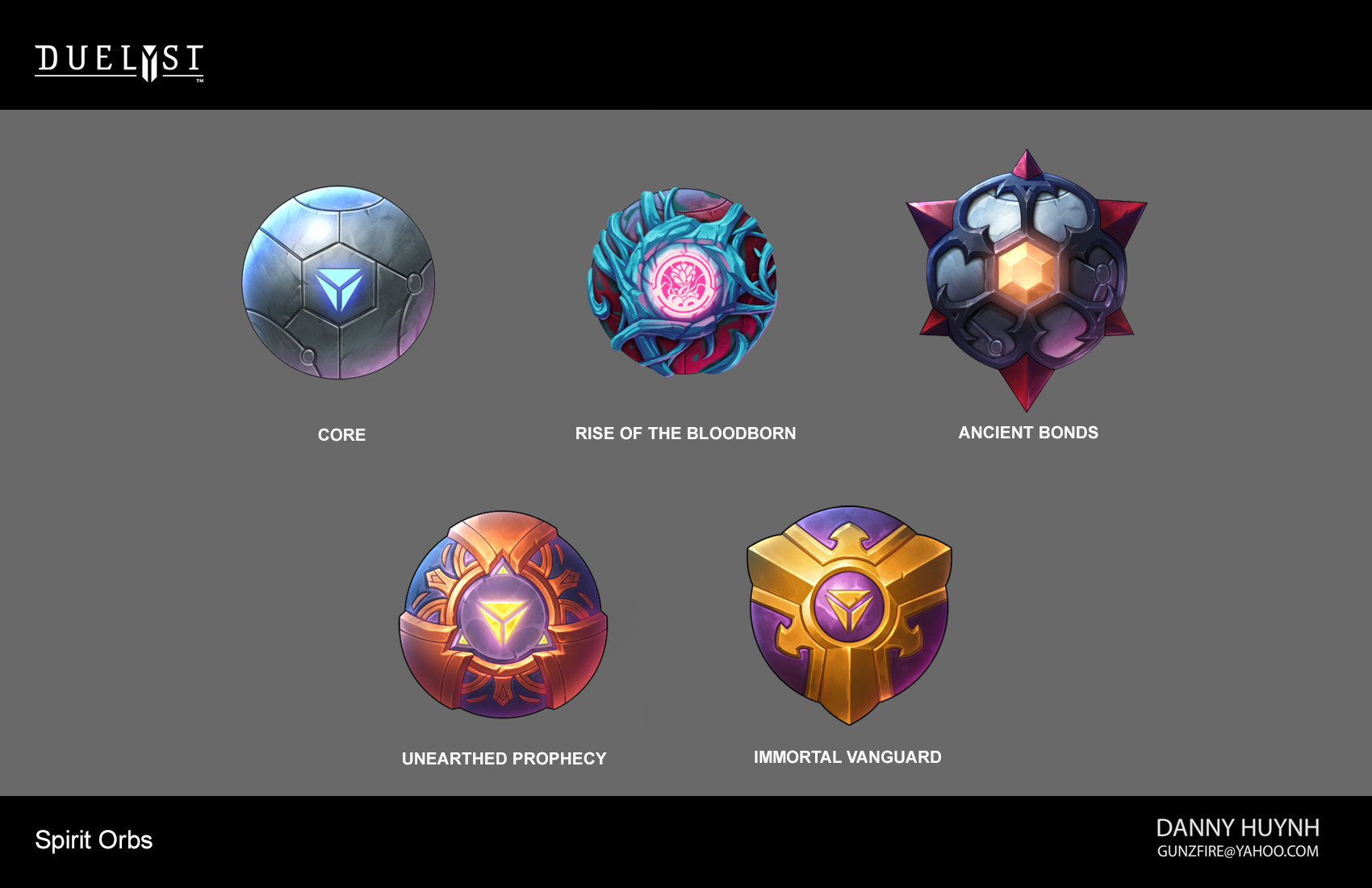 Final orb designs for expansion sets that was released.