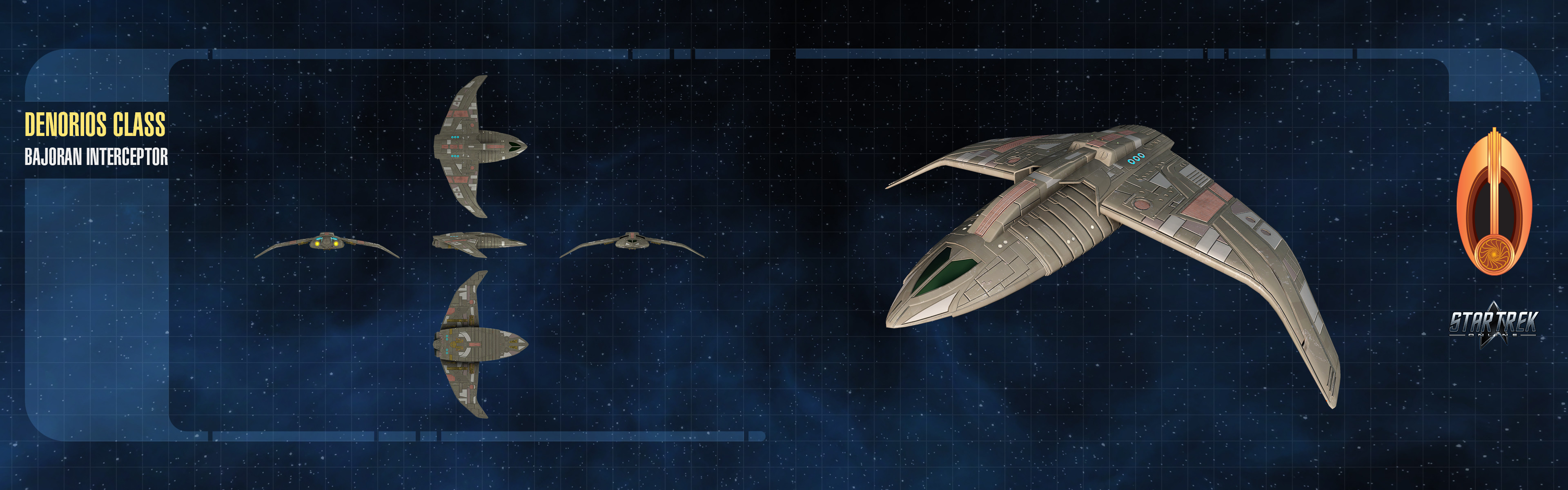 Dual-monitor wallpaper featuring orthographic views of the model.
