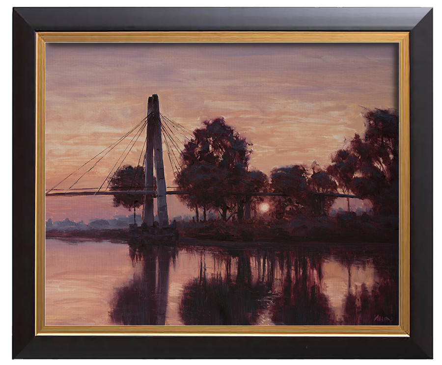 Arthur haas morning bridge framed small