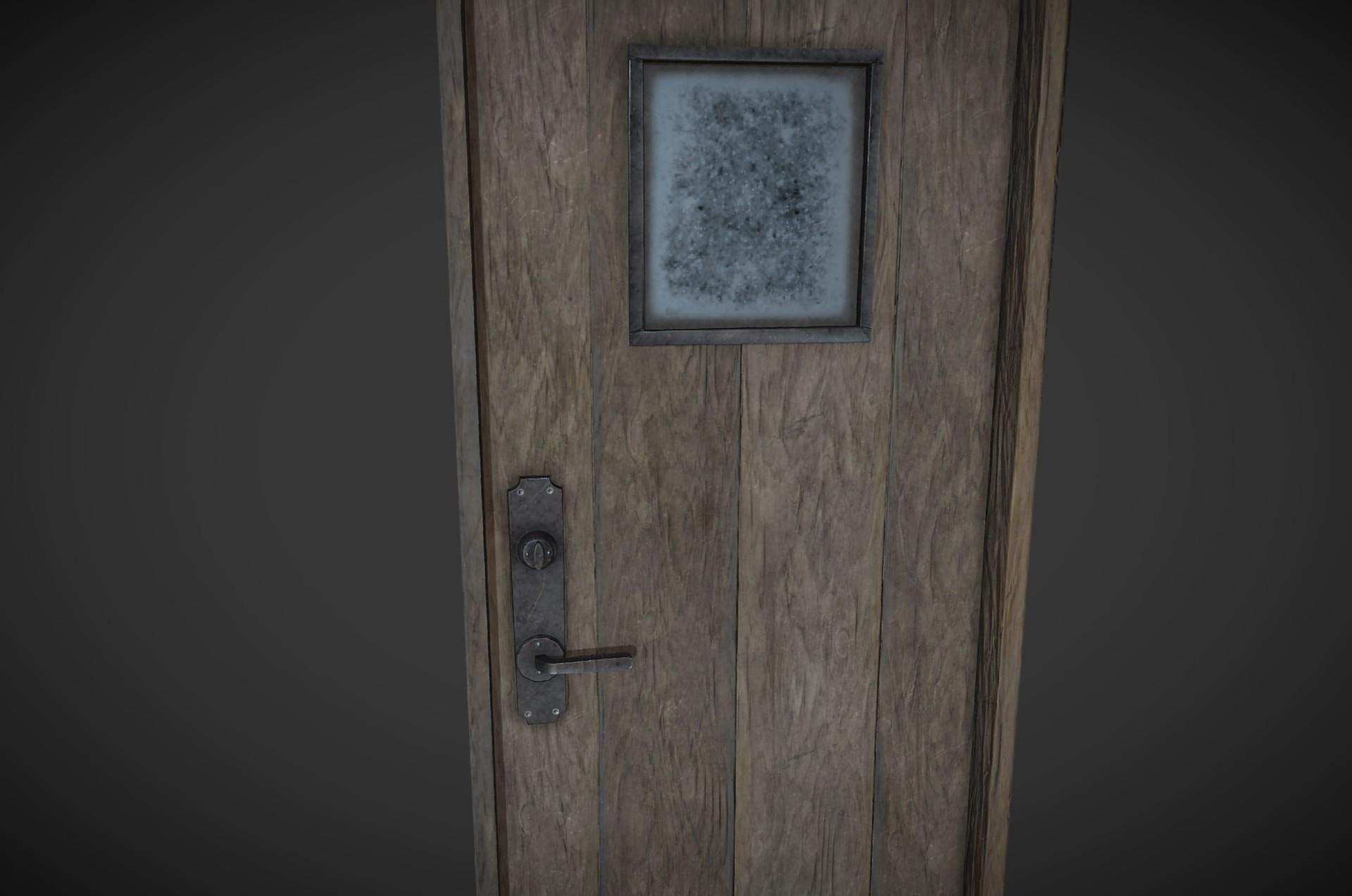 Rustic door for The Shadows Lengthen game