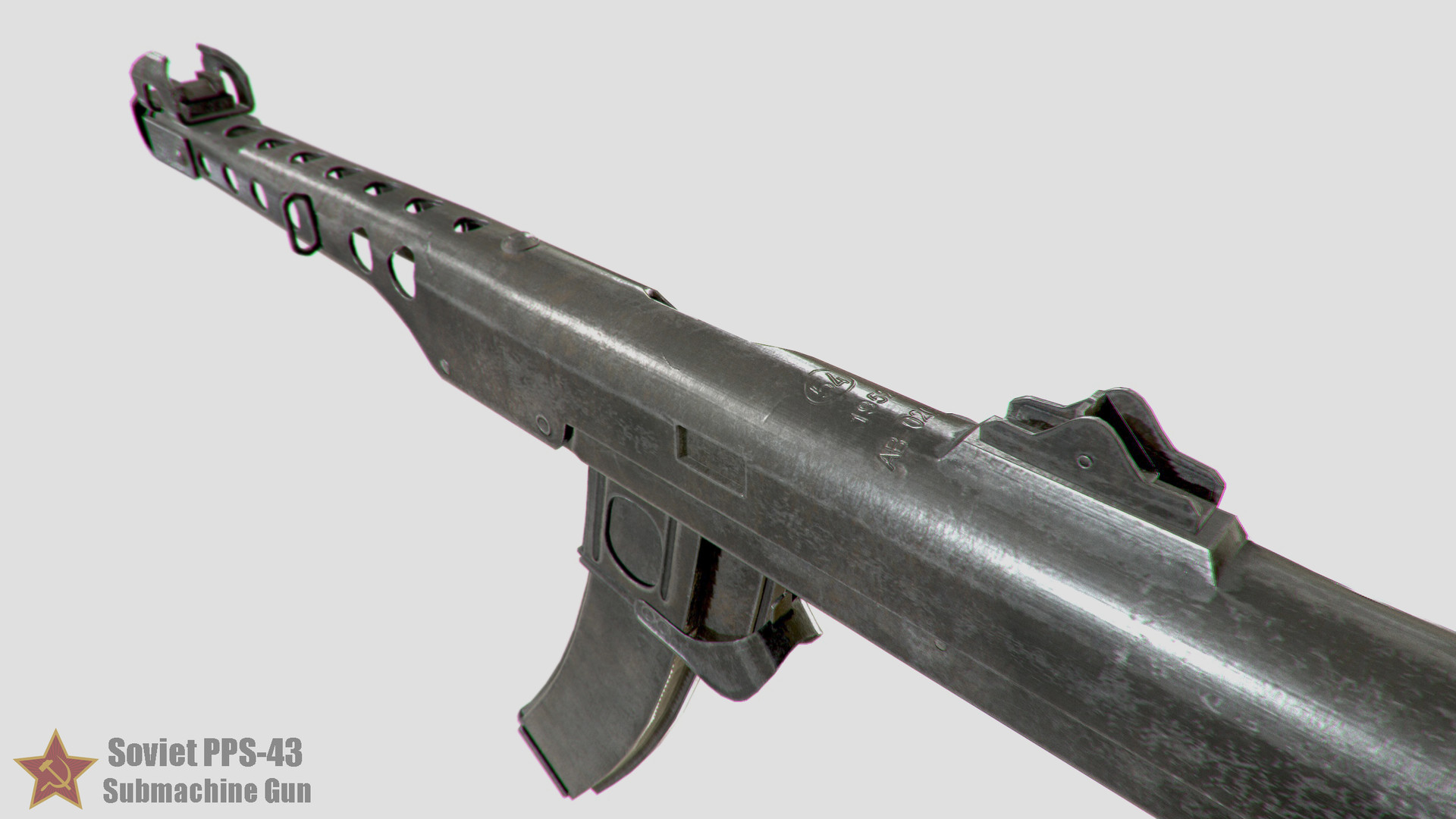 ArtStation - Soviet PPS-43 Submachine Gun, Andrey Mut