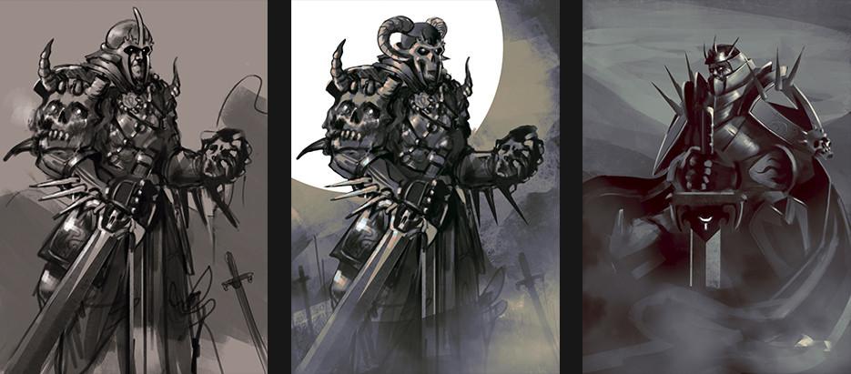 Romel rojas caballero de la muerte bocetos