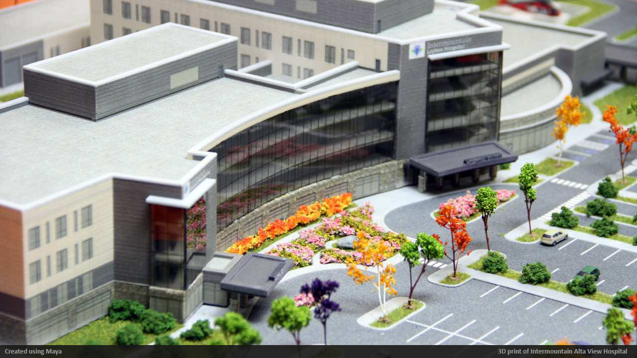Intermountain Alta View Hospital 3D print