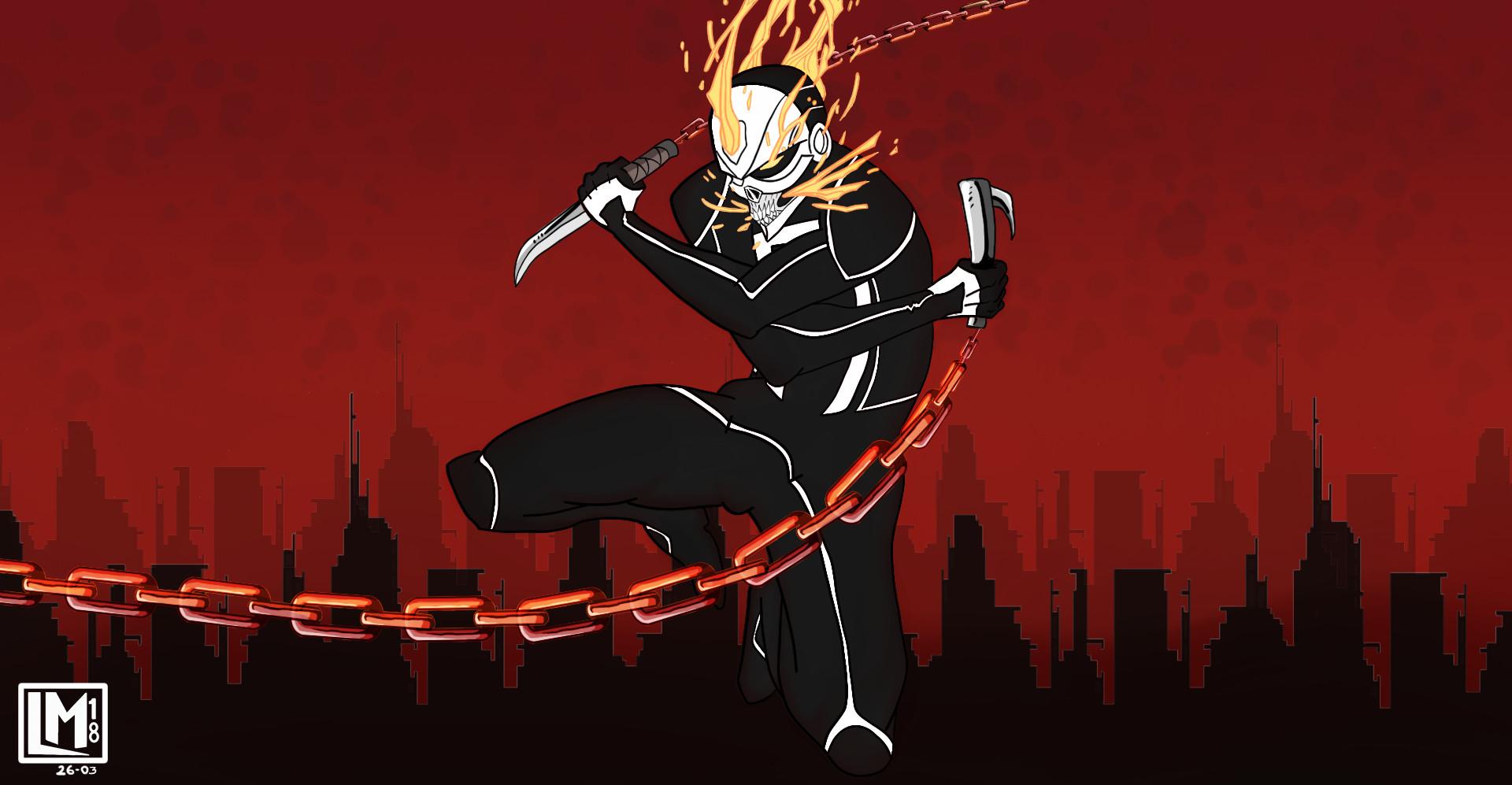 Artstation All New Ghost Rider Robbie Reyes Lucas Santos