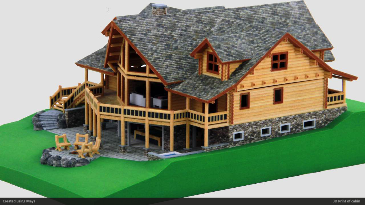 Take Apart Cabin 3D print