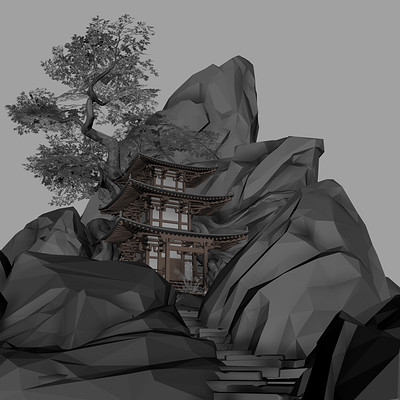 Mountain Pagoda - Block In
