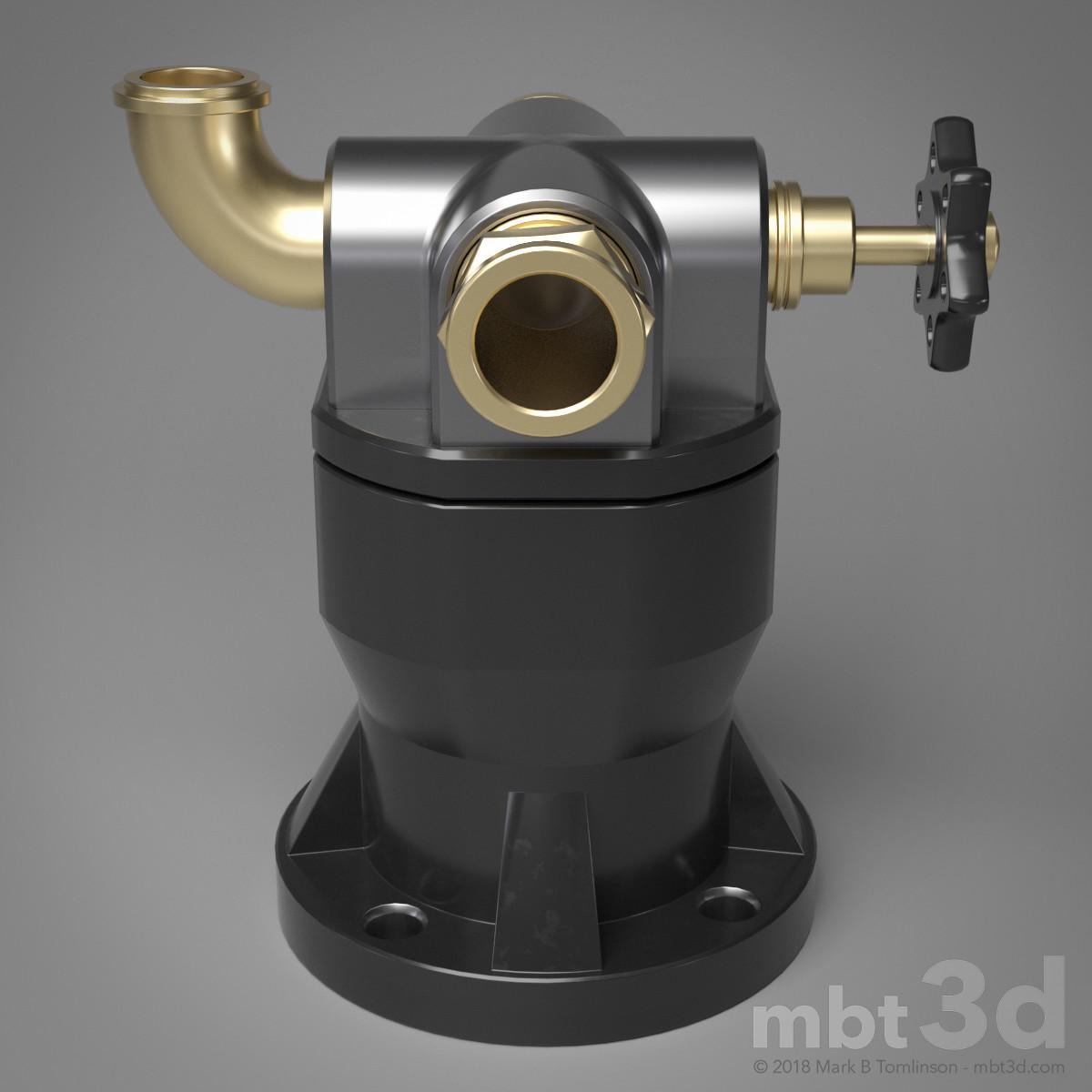 Box XVII: Hard surface model valve handle output