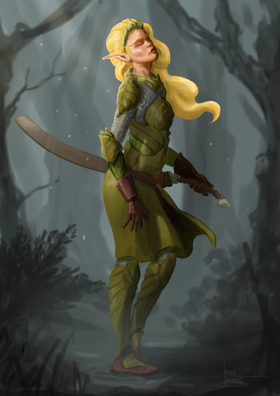 Arnesson art thomas hugo elf armor 7