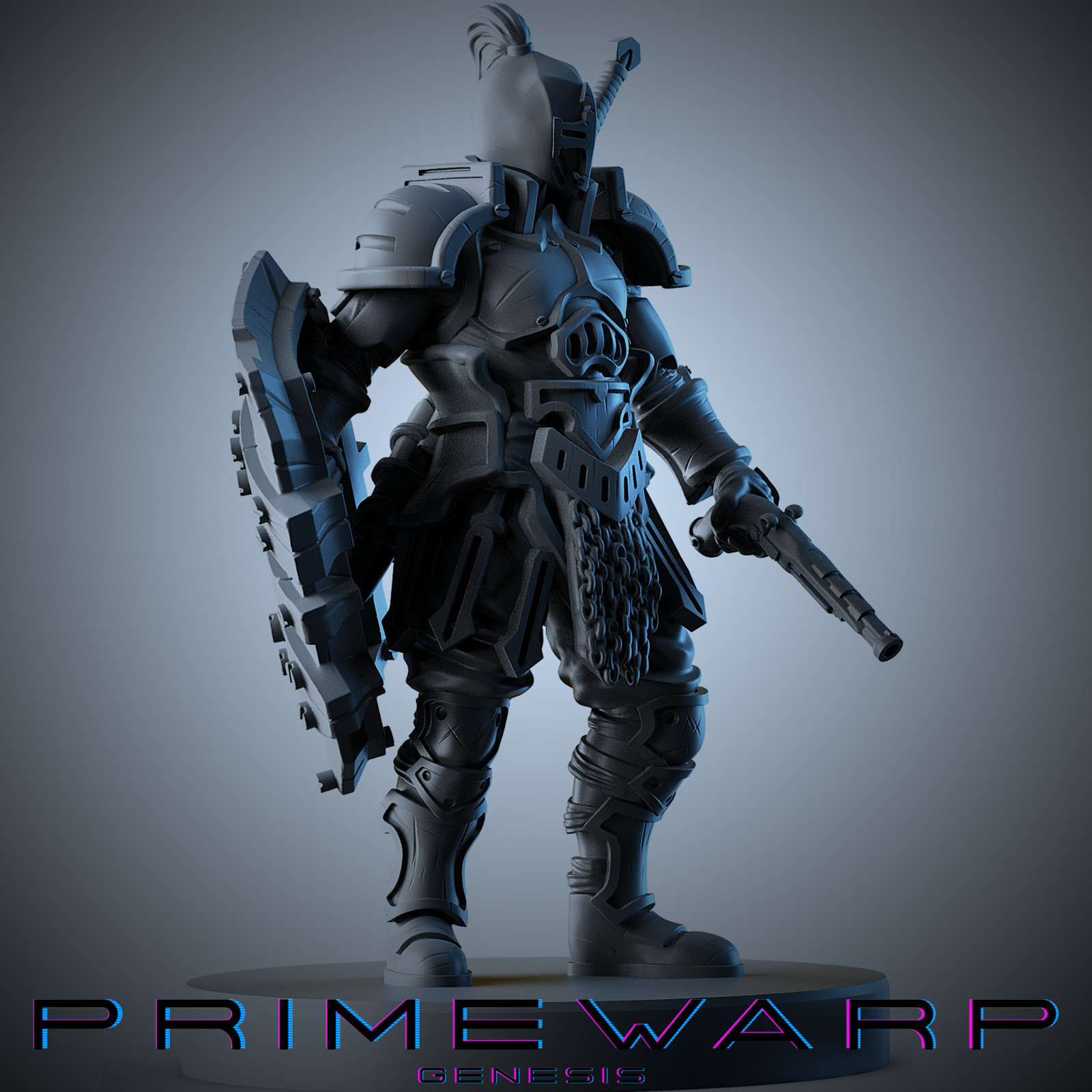 Primewarp: Genesis boardgame miniatures - Knight