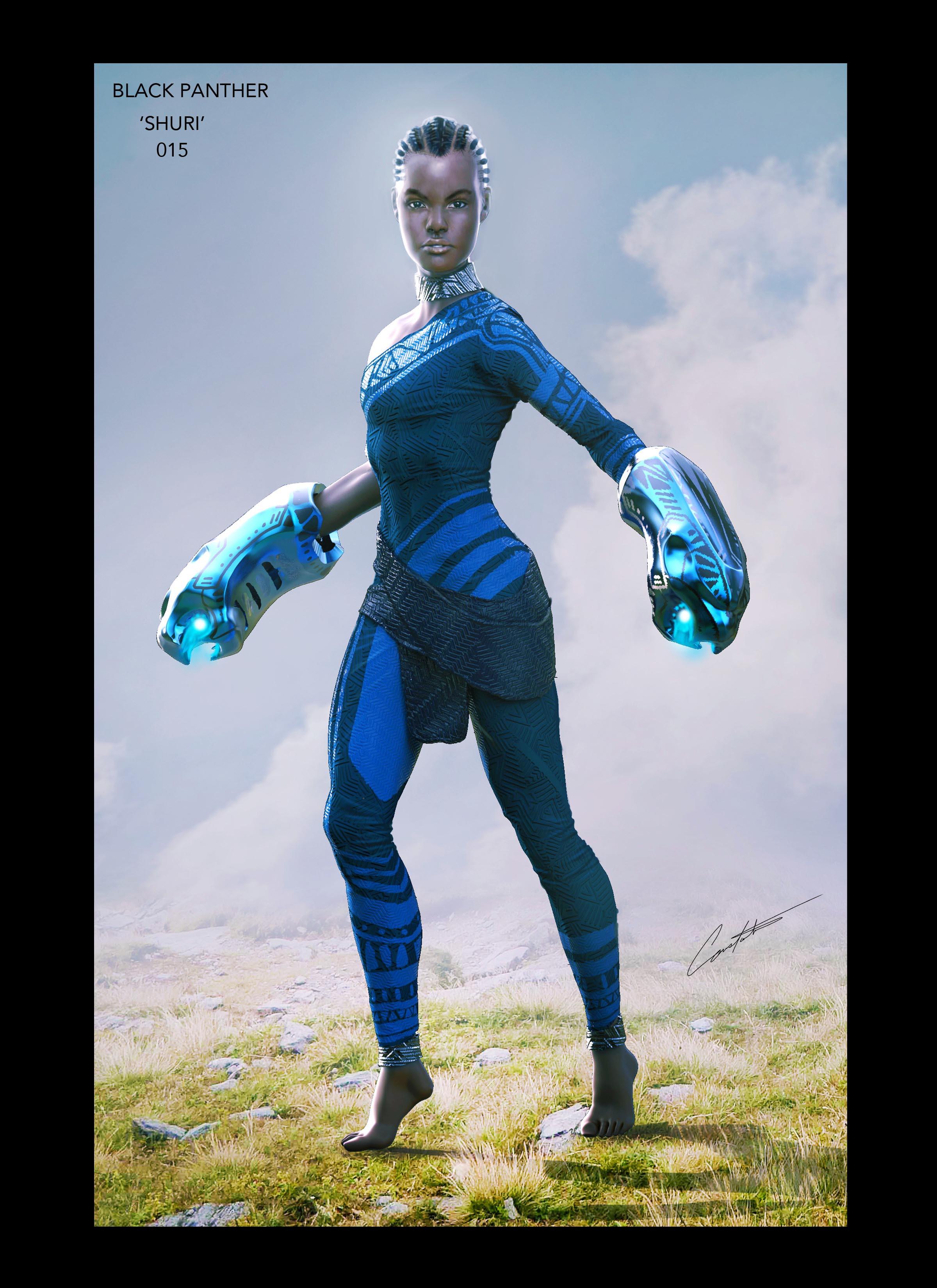 Black Panther 'Shuri' costume concept design