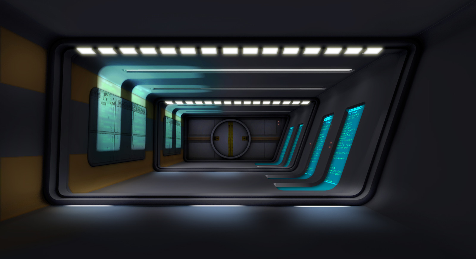 Speed painting for an abandoned abstract space game idea.