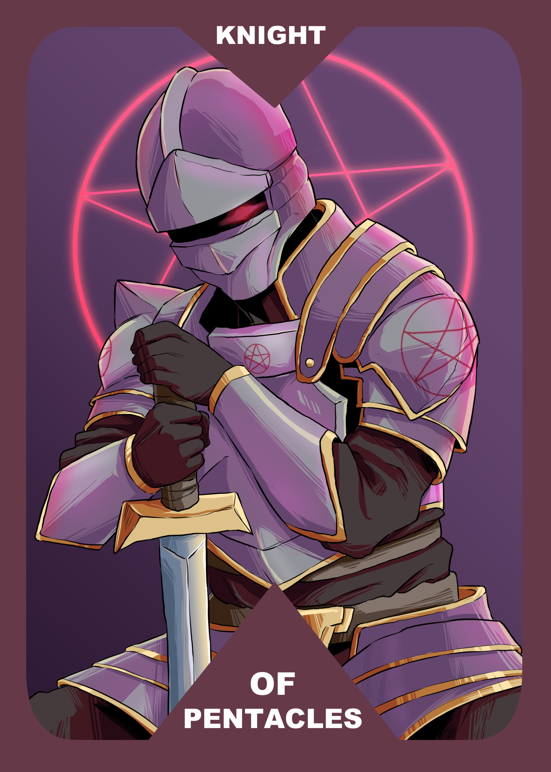 ArtStation - Tarot Cards: Knight of Pentacles and The