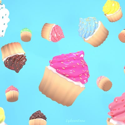 Tzuyu kao artstation tykcartoon many cupcakes in the air 1027ss
