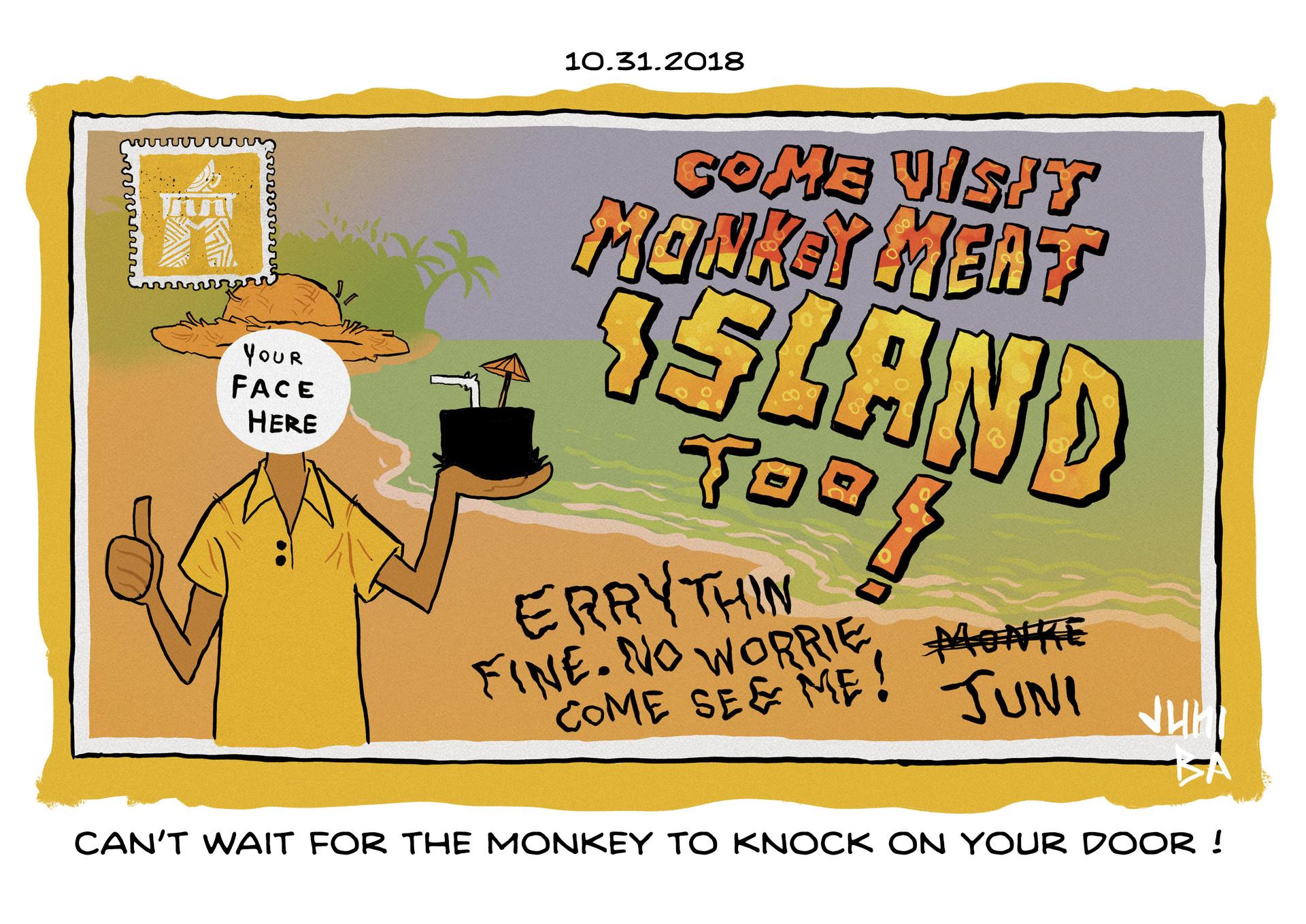 Juni ba 31 postcard